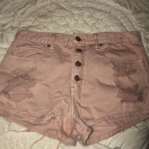 Abercombie high rise shorts